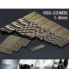 74pcs Set 1MM-8MM Cobalt High Speed Steel Twist Drill Hole M35 Stainless Steel Tool Set The Whole Ground Metal Reamer Tools(China)