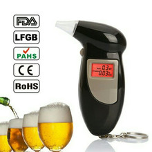 LCD Digital Alcohol Tester Breathalyzer Analyzer Detector Test Keychain Breathalizer Breathalyser Device Alkohol Tester Alcohol(China)