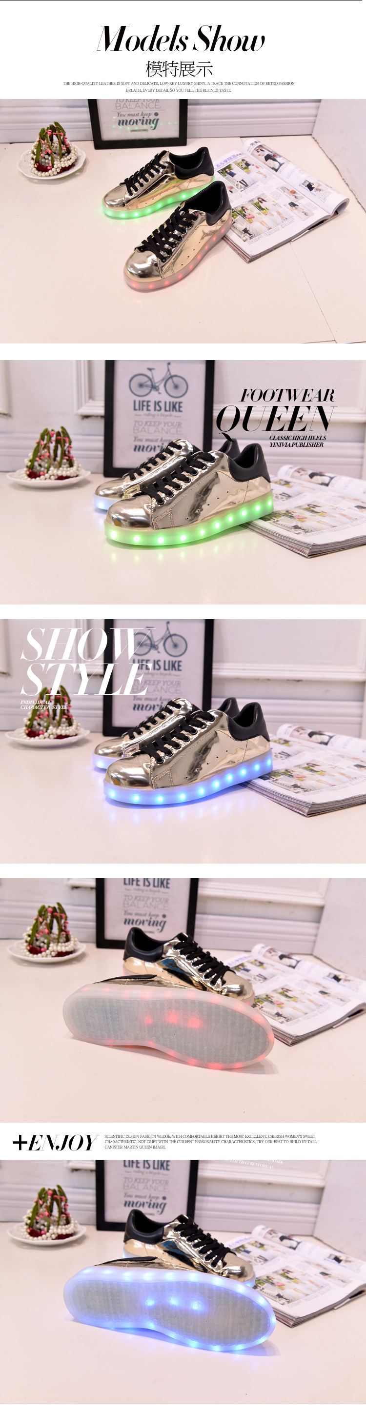 17 Baby Girls Boys LED Light Sneakers Colorful USB Charging for Kids Flashing Casual Flat students children Luminous Shoes 5