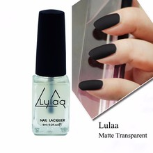 6ml/bottle LULAA Transparent Nail Polish Matte Top Coat Professional Nail Lacquer Nail Art Tools