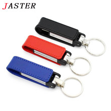 JASTER fashion leather usb flash drive fur key chains pendriver 8gb 16gb 32gb commercial memory stick 4gb 64gb Good gift
