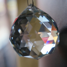 Clear 40mm Faceted Glass Crystal Ball Prism Chandelier Crystal Parts Hanging Pendant Lighting Suncatcher ball Home Decoration(China)