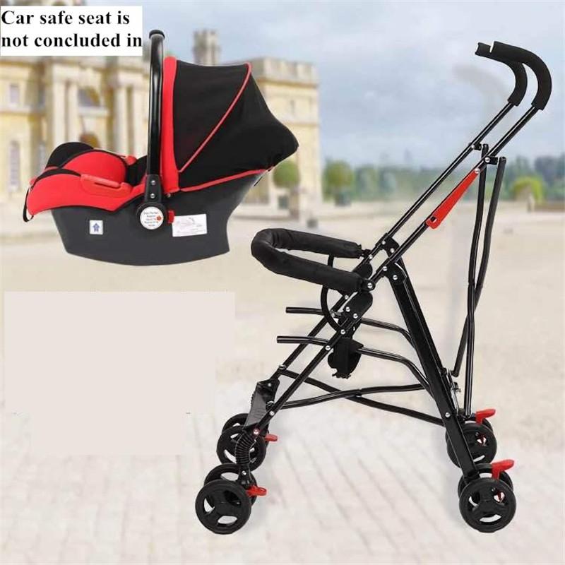 Newborn Baby Car Seat Stroller Carts Light Folding Portable With Children\'s Car Safety Seat Basket Steel Highland Baby Car Frame12