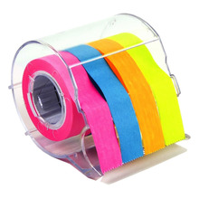 2 PCS Divider Sticky Notes Post Tab Markers Full Adhesive Label Roll Tapes with Dispenser Holder(32 Feet)