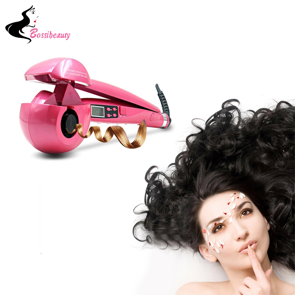 Automatic Hair Curler Styling Tools Professional Magic Curling Iron Hair Styler Wand Curlers With LCD Display<br>