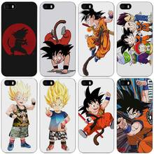 seven dragon ball z kid goku Black Plastic Case Cover Shell for iPhone Apple 4 4s 5 5s SE 5c 6 6s 7 Plus(China)