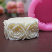 Fast Delivery 3D Round Rose Silicone Mold Flexible Push Mold  Polymer Clay Bakeware Sugarcraft Molds Fimo Soap Mould