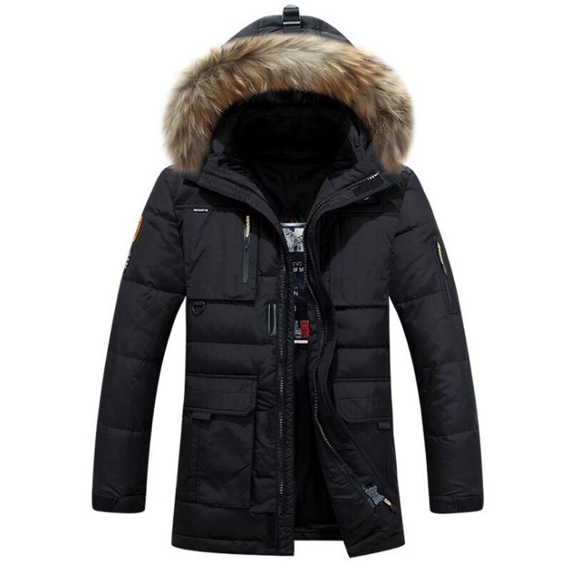 Brand duck down jacket men Winter jacket men high quality fur collar down coat thickening warm mens outwear overcoat