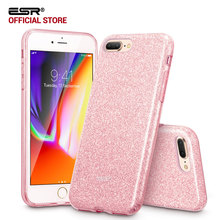 Case for iphone 8/8 Plus,ESR Makeup Series Back Cover Shinning Protective Bumper Bling Glitter 3-Layer Case for iPhone8 7 7 Plus(China)