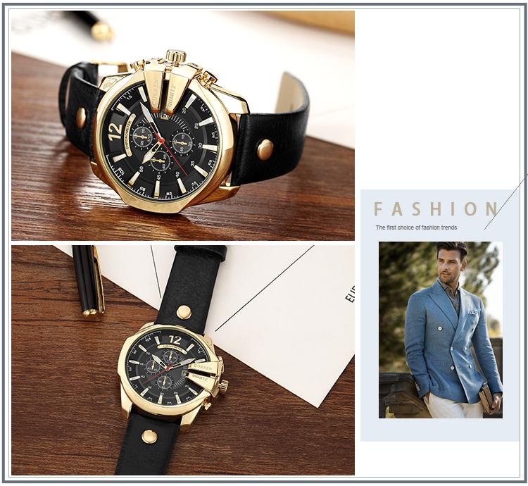 18 Style Fashion Watches Super Man Luxury Brand CURREN Watches Men Women Men's Watch Retro Quartz Relogio Masculion For Gift 12