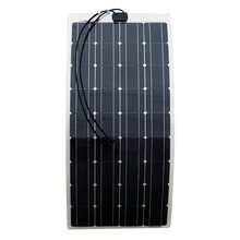 200W 2X100W Mono Flexible Solar Panel Solar Module Energy Roof Camper RV Yacht Solar Generators