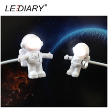LEDIARY Funny Astronaut/Spaceman LED Night Light USB Desk Lamp Computer PC/Keyboard  Flexible Book Light Cartoon Figure  Present