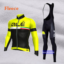 Winter Thermal Ale Cycling Clothing 2017 Men Fleece Jersey Bike Bicycle suits Cycling Kit Green Yellow Red Blue Ropa Ciclismo