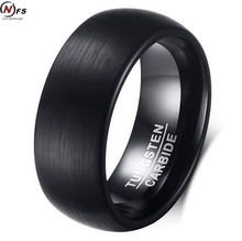 NFS 8MM Wedding Tungsten Ring Very Nice Wedding Band Tungsten Carbide Ring Rose Gold Color Ring With All Brush Finish(China)