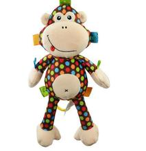 Sozzy baby Stroller /bed handing bell toy Soft plush Monkey toy(China)