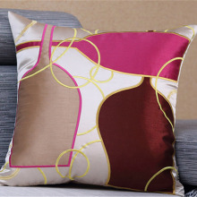 Geometric Embroidered Cushion Embroidery  Throw Pillows Case  Faux Silk  Pillowcase  Polyester Cojines Capa Para Almofada