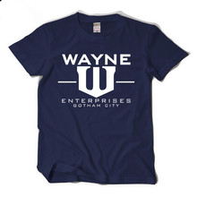 Wayne Fashion Logo Enterprises Gotham City  Short Sleeve Cotton T-Shirt Tees Summer Cosplay Costume Shirts New