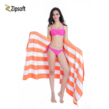 Microfiber Large size Beach towel 86*200cm Travel bath Drying Sports Swiming Bath body Yoga Mat Drape Stripe Flag Zipsoft 2018(China)