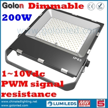 High lumens 110Lm/W DIM meanwell driver Outdoor high power 200 watts 200w Dimmable led flood light fixture