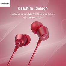 Caldecott Metal 3.5mm Caldecott Earphone KDK-207 Wired headset In-Ear Earbuds For Mobile phones computers MP3 MP4 or phone(China)