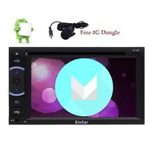 4G Dongle + Android 6.0 in Dash Quad-core 6.2'' Car DVD Player External Micro USB Wifi GPS Navigation Radio Bluetooth 4G/3G OBD(China)