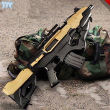 Thunder Electronic Auto Fire Toy Gun Plastic Wargame gun Airsoft crystal bullet Machinegun toys for Children best gifts