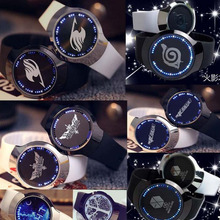 Naruto fairy tail Tokyo Ghoul MIKU one piece Attack on Titan rubber waterproof Touch screen LED watch man lover digital watch