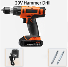 20V Parafusadeira Furadeira Impact Drill Cordless Hammer Drill wall Electric Drill Concrete electric screwdriver power tools