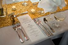 20pcs Gold Sequin Table Runner,Sequin Table Cloth,Sequin Table Linens 12x50in
