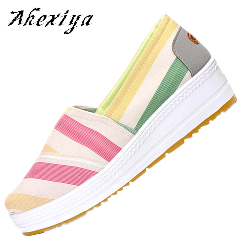 tenis feminino Spring Summer 2017 Lose weight Swing shoes Wedge High quality canvas shoes for women Breathable zapatos X505<br><br>Aliexpress