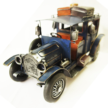 Retro Metal Classic Cars Model 1:12 Cabinets Cafe Bar Decorative British Style Big Car Models Crafts