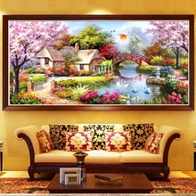 Diy 5D Diamond Painting Landscape Full Square Rhinestone Diamond Embroidery Cross stitch Kits Handmade Painting Home Wall Decor