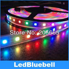 LED Digital Strip light  With WS2811 Built in 5050 RGB LED Chip 30LEDS/meter DC5V Input  + Controller can be control 512 pixel