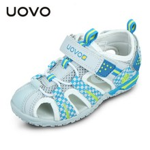 Uovo New Summer Closed Toe Beach Sandals Kids Shoes EU26-36 Boys Girls Camouflage Flower Children Flat Sandales Slip Resistant(China)