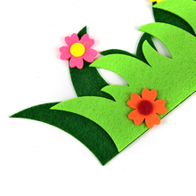 Non-woven Grass Flower Park Children Bedroom Hanging Wall Stickers Decor Accessories Kids Play Tent Props Toy Cartoon(China)