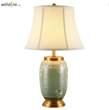 Chinese Pastoral Led E27 Lamp Living Room Bedroom Painting Color Flower And Bird Ceramic Table Lamp(China)