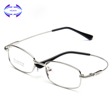 VCKA Optical Metal Glasses Frame Men Retro Clear Myopia Prescription Eyewear Square Designer Eyeglasses Frame Unique Hinge(China)
