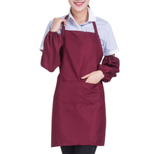 EZLIFE Sleeveless Polyester Apron Home Kitchen Restaurant Coffee Shop Apron Protect Clothes From dirty Jujube Red color GF255