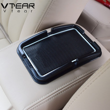 Vtear For Hyundai Solaris anti-slip mat car interior dashboard Phone GPS Holder pad silicone car-styling decoration accessory(China)