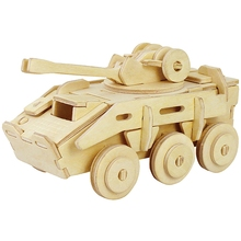Military Armoured Model Vehicle Puzzles 3D Wooden Puzzle Environmental Assemble Toy Educational Game wooden toys for children