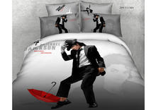 new dropship brand 100%cotton 3D Micheal Jackson Monroe bedding bed sheet set bedclothes duvet cover set bedding set