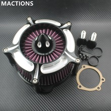 Air Cleaner Filter Motorcycle Bike Accessories Contrast Cut Turbine For Harley Sportster XL883 XL1200 1991 1992 1993-2015 2016
