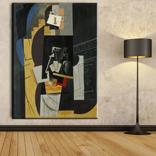 xh855 pablo picasso card player abstract canvas paintings art prints home decor art unframed