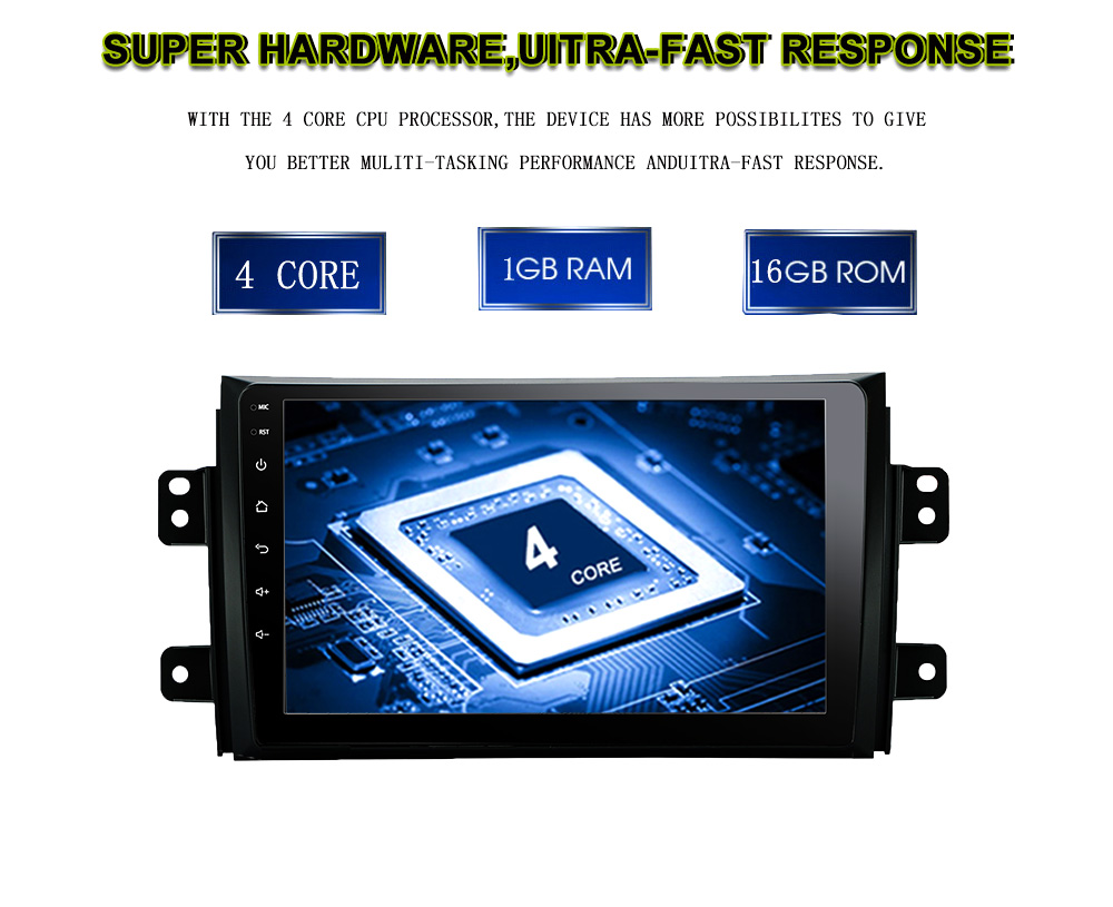 2 DIN Android 8.1 car dvd for Suzuki SX4 2006 2007 2008 2009 2010 2011 2012 2013 car radio navigation GPS Multimedia System rds