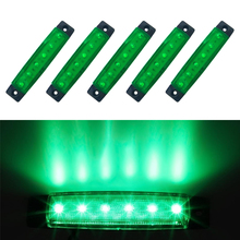 Green Car Led Side Indicator Clearance Lamp Tail Reverse Turn Signal Trunk Trailer Lorry UTE Warning Parking Lighting Bars 12V(China)