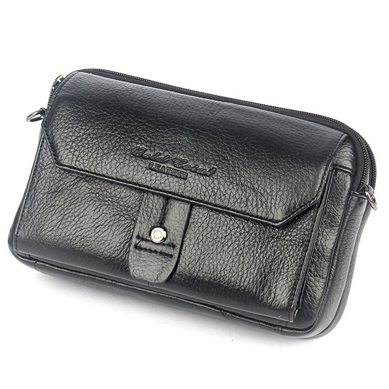 2015 high quality genuine leather bags for men small messenger bags crossbody shoulder bag waist packs chest bags male cowhide<br>