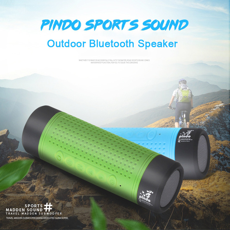 4in1 Pindo Waterproof Portable Outdoor Mini Bluetooth Speaker 4000mA Power Bank Wireless Bicycle Speaker Sound Box with MIC(China (Mainland))