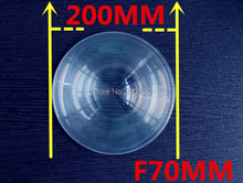 Plane enlarge Fresnel Lens Diameter 200 mm Focal length 70 mm High light condenser Fresnel Lens used Solar concentrator(China)