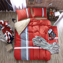 Good Qualit Home Textile/4pcs Sets Sport Style Red Whiter Gray/Fringe Duvet Cover Sets/Pillowcases/Bed Sheet/Bedclothes/Bed Set