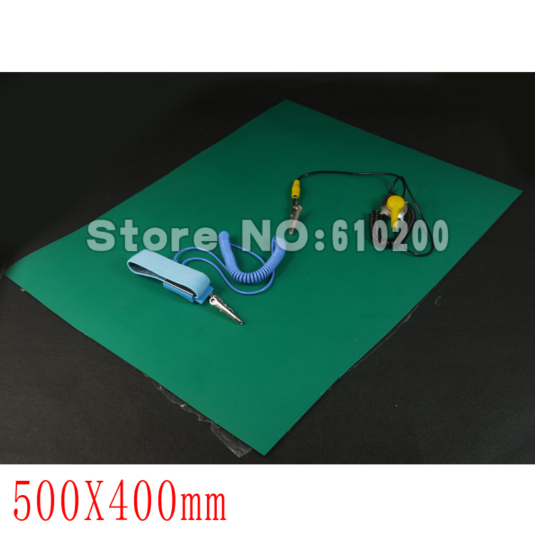 ESD Anti-static desk mat maintenance platform maintainance insulator pad + Ground Wire+ESD wrist serap 500mm*400mm*2mm<br><br>Aliexpress